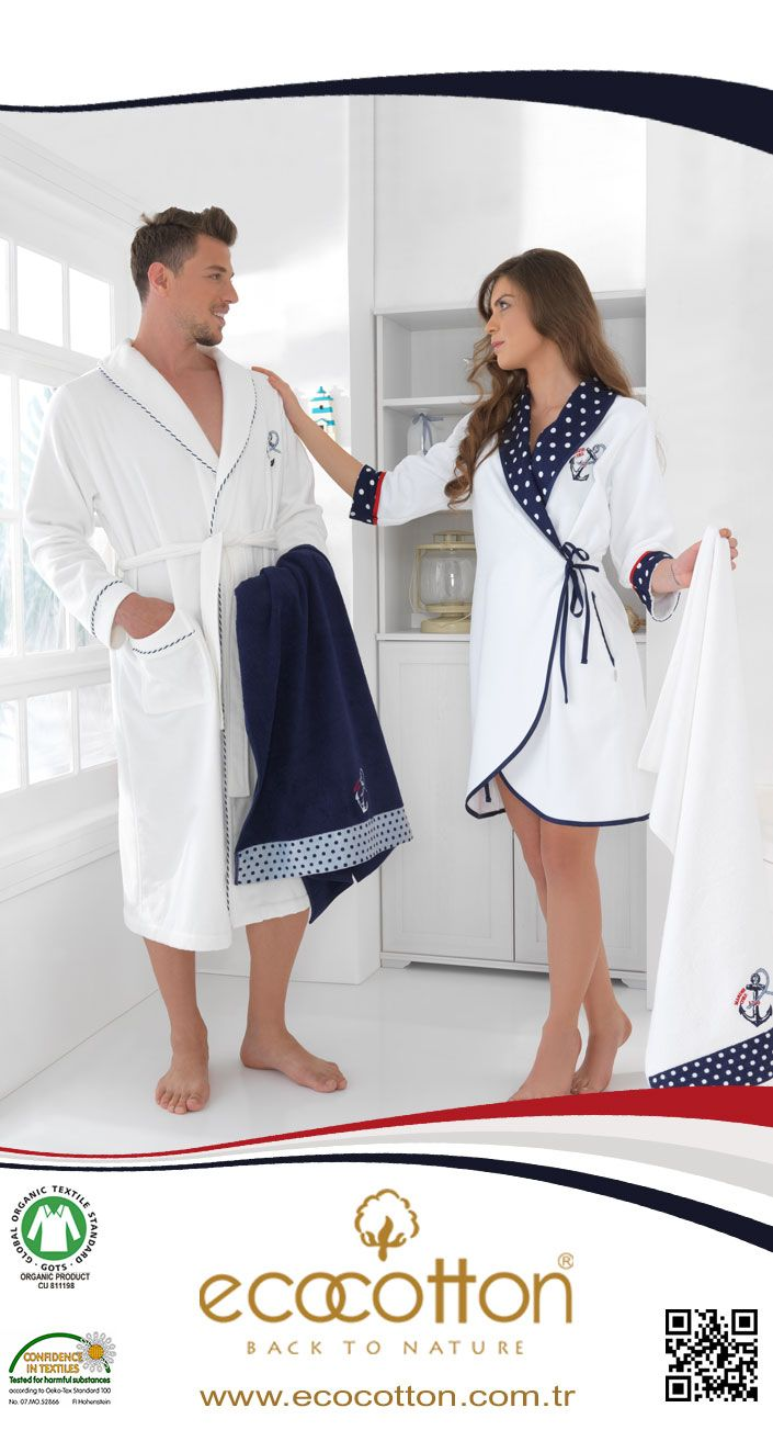 'SEA STAR' Organic, Bathrobe, Towel Organik, Bornoz, Havlu www.ecocotton.com.tr