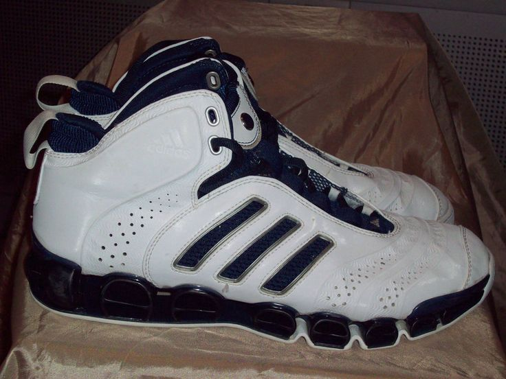 Adidas mens high top bluewhite basketball shoes size 12