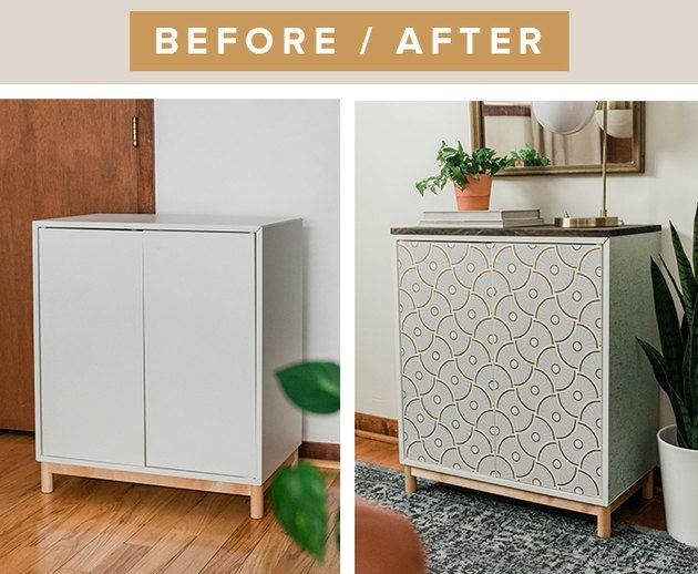 Ikea And Target Are Behind This Beautiful Entryway Cabinet Makeover Hunker In 2020 Entryway Cabinet Eket Ikea