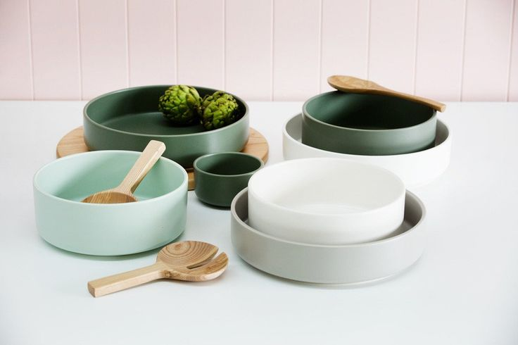 Matte finish bowl. Earthenware. Made in Portugal. Hand wash only. 7.5 x 31cm. ByMint Home.