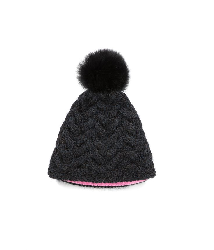 KNIT BEANIE CAP FOR WOMEN in Black - CABLE KNIT HAT The GŌBLE Women Knit Beanie Cap is a luxurious soft blend of merino wool, alpaca and silk. HAND KNIT IN CANADA GOBLE.CA