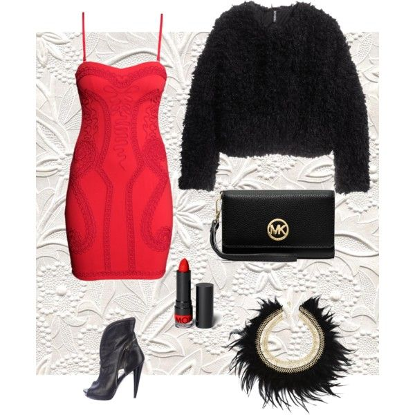 A fashion look from December 2014 featuring H&M dresses, H&M jackets and Alexander McQueen ankle booties. Browse and shop related looks.