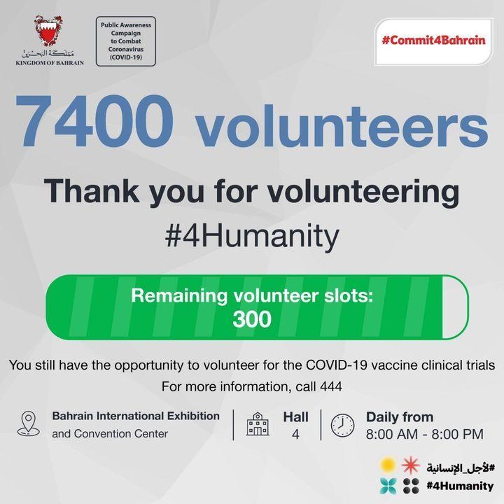 شارف العدد على الاكتمال بادر بالتطوع لأجل الإنسانية Thank You Volunteers Clinical Trials Awareness