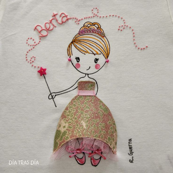 Aplique / Camiseta muñeca