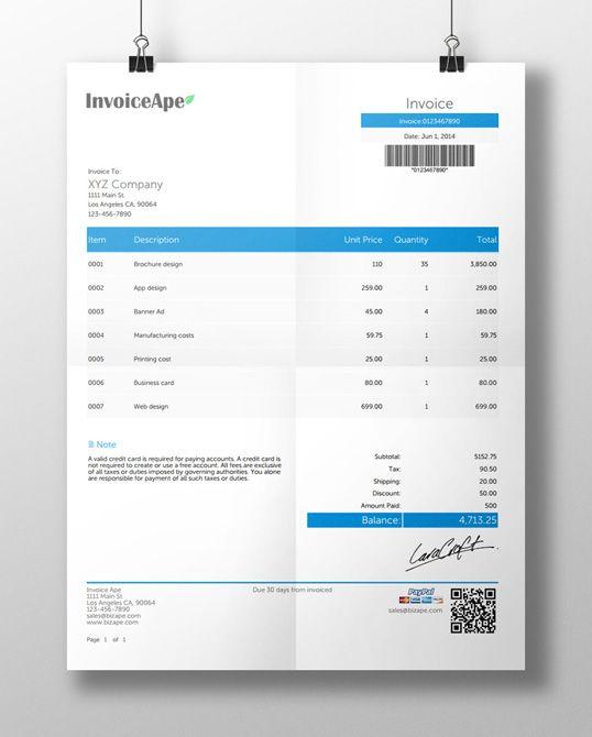 1000+ ideer om Free Invoice Creator på Pinterest Dashbord ui og - invoice creator free
