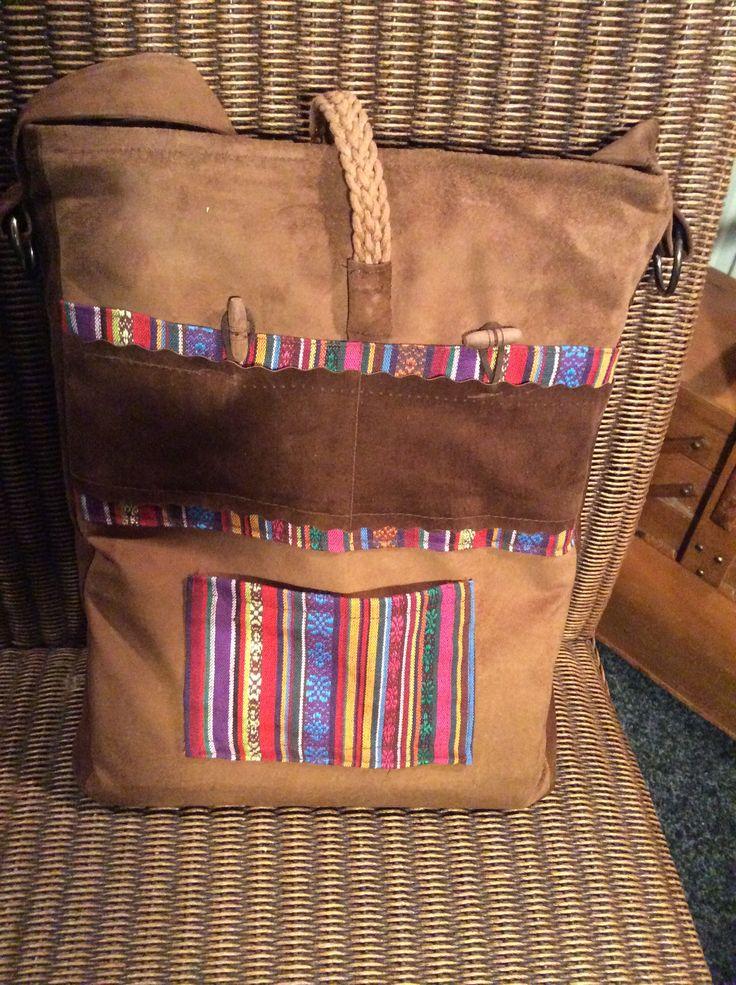 Leren tas (achterkant)