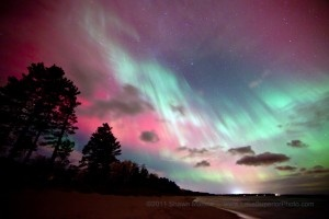 Northern Lights. Picture taken in Marquette, Michigan