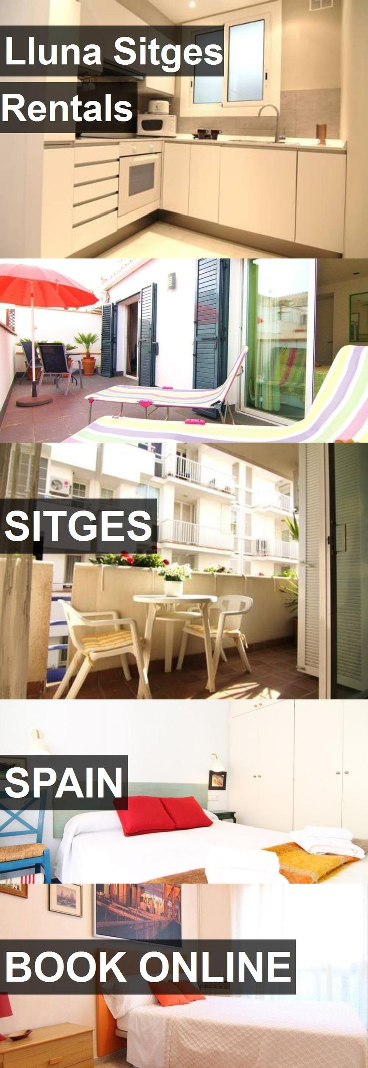 Hotel Lluna Sitges Rentals in Sitges, Spain. For more information, photos, reviews and best prices please follow the link. #Spain #Sitges #hotel #travel #vacation