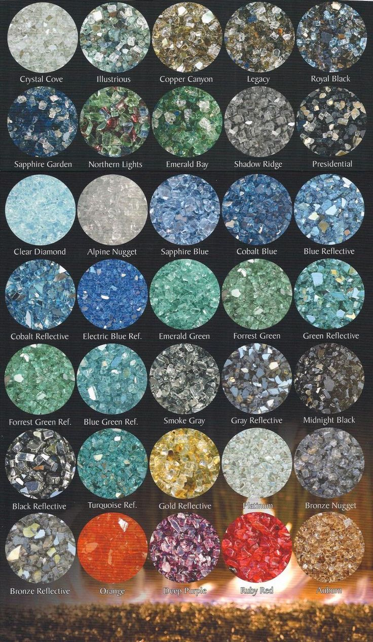 Webster Construction - FIREPIT GLASS COLORS