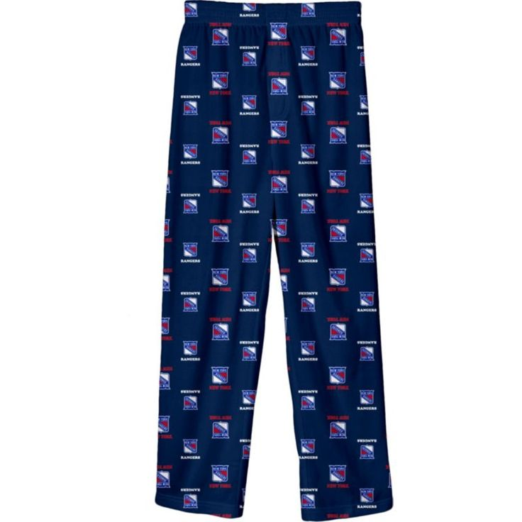 NHL Youth New York Rangers Team Logo Royal Sleep Pants, Size: Medium