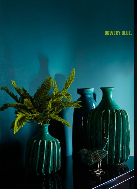 Love this 'Bowery Blue' from Abigail Ahernes new paint range. Intense, sophisticated and super glam