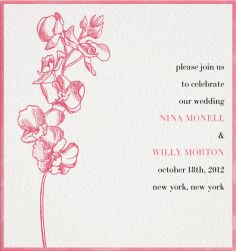 Nina & Willy's Orchid - Wedding cards