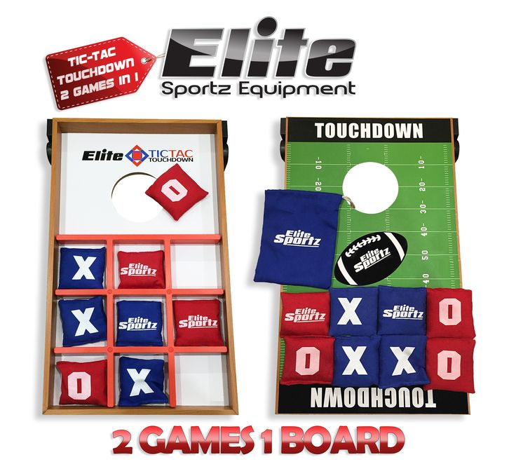Elite Tic Tac Touchdown / Corn Toss Game for Kids and Adults - 1 Board , 2 Game Combo - Play Both Sides of the Board for some great family fun or Tailgating. Brand New Product.. - High quality, educat