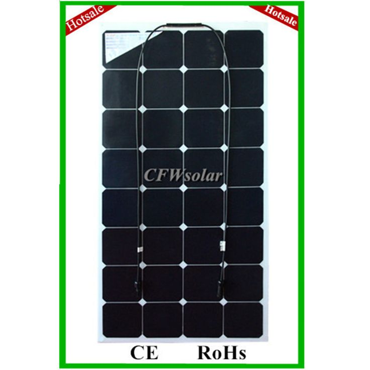 factory price 100W sun power flexible solar panel with Connection box, cable and MC4 connectors, for 12V battery.