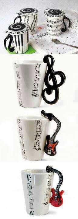 Originales......café y música... Que excelente combinación!!!