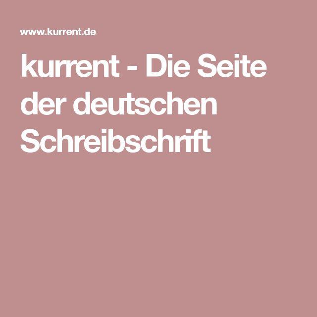 kurrent - Die Seite der deutschen Schreibschrift