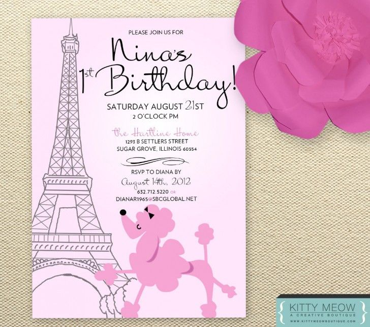 Best Birthday Invitations Images On Pinterest Angelina - Write a birthday invitation in french
