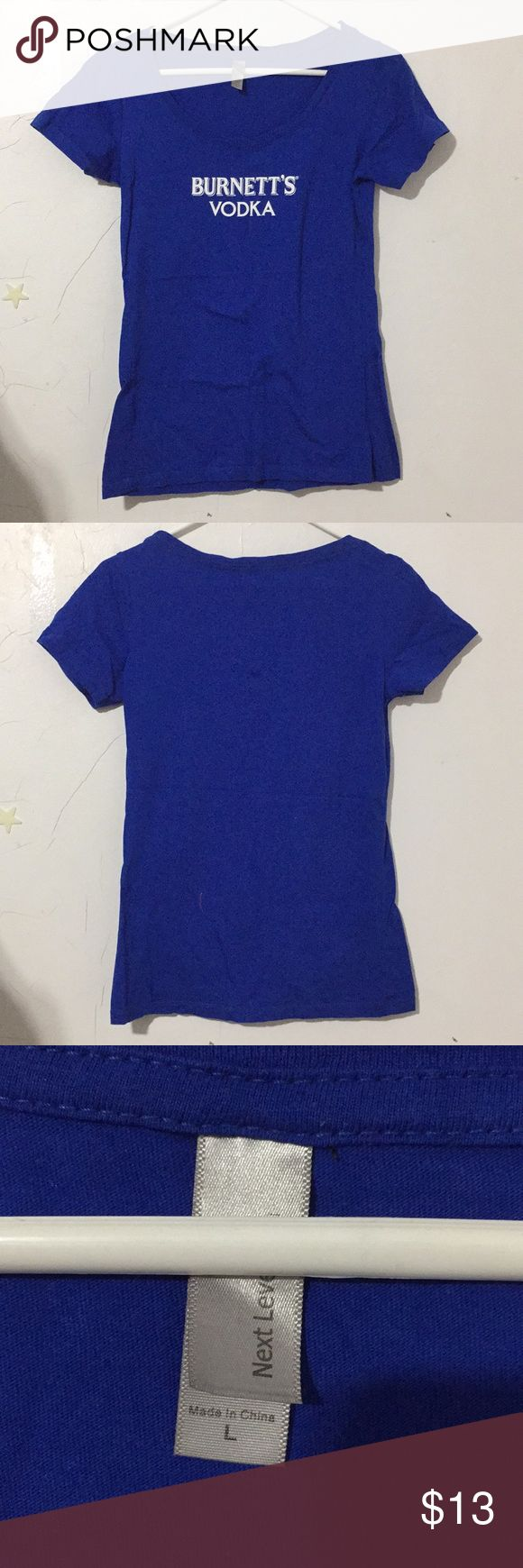 NEW Burnetts Vodka Blue Scoop Neck Tee Sz L Womens NEW Burnett's Vodka Blue Scoop Neck Tee Sz L Womens Urban Outfitters Tops Tees - Short Sleeve