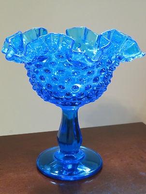 Colbolt Blue Fenton glass