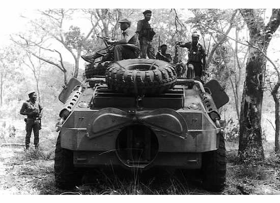 Soviet BTR-60 in Mavinga