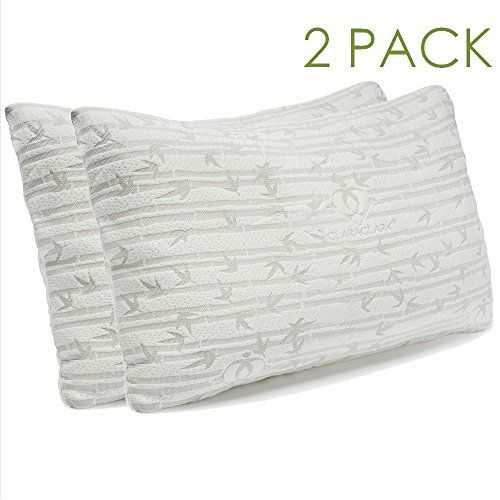 clara clark rayon made from bamboo shredded memory foam pillow queen standard size set of 2 find this pin and more on bed pillows