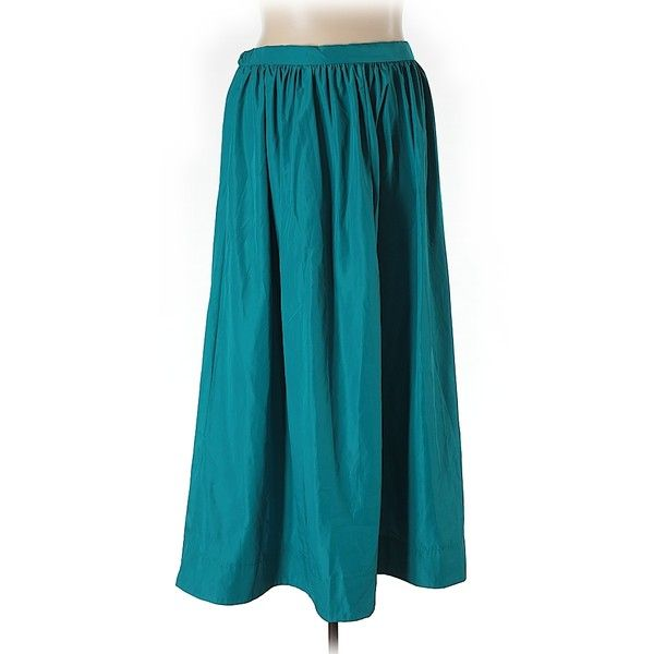 Eloquii Casual Skirt ($21) ❤ liked on Polyvore featuring plus size women's fashion, plus size clothing, plus size skirts, teal, eloquii, teal skirt and blue skirt
