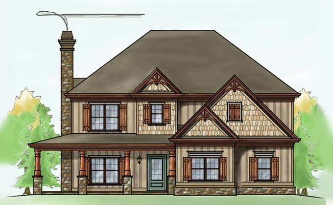 Two Story Four Bedroom House Plans Exterior House Plans