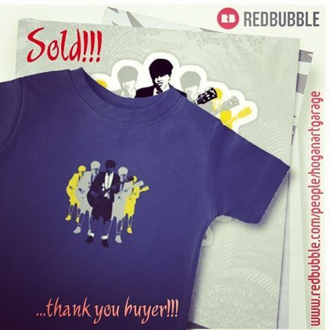 Sold!!!..thanks to the person from Oakleigh in Victoria, Australia who recently bought this kids t-shirt featuring my 'Taking the Lead - Angus Young' Pop-art design at my Redbubble webstore. And thanks for the kind mail you sent me, I really appreciate it! #sold #redbubble #acdcfans #angusyoung #popart #thankyou #giftideas #musicfan #rock #angus #acdc #instaacdc #guitarists #rocklegends #art #design #highwaytohell #art #instaart #artist #artistsofinstagram #instalike #instalikes…