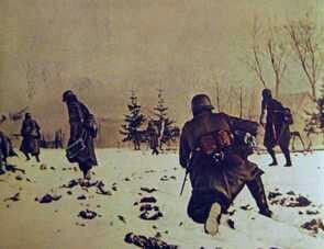 Germans soldiers in the snow, eastern front WW2, pin by Paolo Marzioli