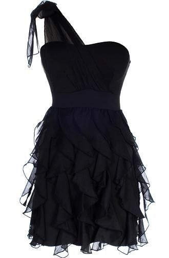 Chandelier Frills Dress: REPIN IT TO WIN IT!: Fashion, Ruffle Dress, Style, Clothes, One Shoulder, Little Black Dresses