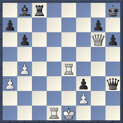 Real game chess tactic. Janssen (2498) vs C. Balogh (2608), Eppingen (2010). Black to move. How should Black proceed?