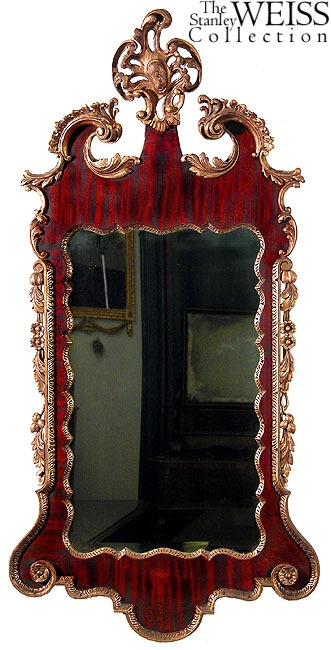 SWC-Carved Giltwood Chippendal​e style Mirror, 19th cen The Stanley Weiss Collection