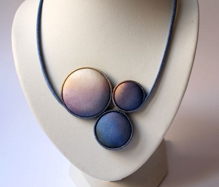 Hand dyed silk jewelry by Koria Design  https://www.etsy.com/listing/179054289/hand-painted-silk-bubble-bib-necklace?ref=related-3 www.facebook.com/koriadesign