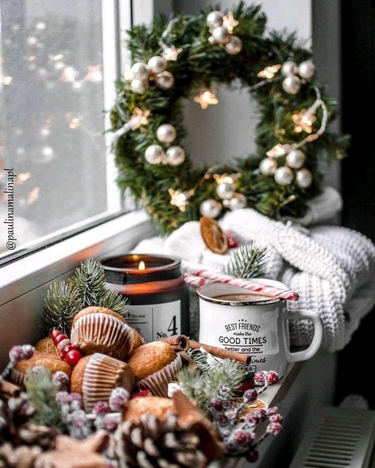 super genieße die weihnachtszeit bei einer tasse tee bei