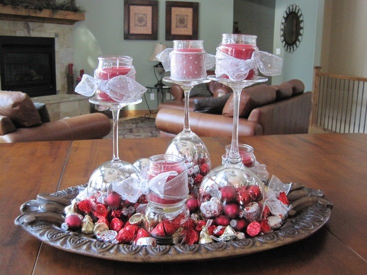 An easy and inexpensive valentine s day centerpiece made
