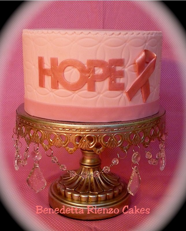 Hope Cake For T Cancer Awareness October Is National Month Educate Yourself About Early Detection And