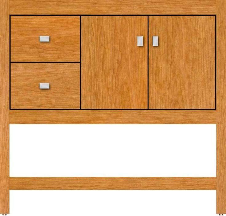 "Strasser Woodenworks Alki Spa 36"" Vanity with Left Hand Drawers and Slab Doors"