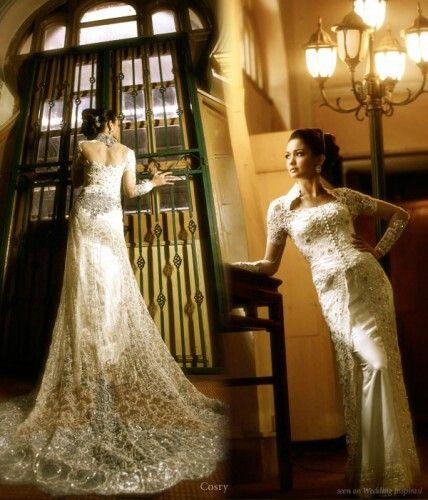 Indonesia kebaya wedding dress