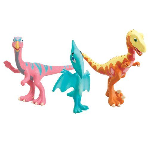 Learning Curve Dinosaur Train Collectible Dinosaur 3 Pack - My Fast Friends: Nick, Derek And Shiny Based on the Jim Henson PBS show, The Dinosaur Train. Collect all your favorite Dinosaur Train Characters. Includes three plastic dinosaurs featured on the show. Nick, Derek and Shiny. For ages 3+.  #LearningCurve #Toy