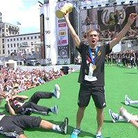Así mostraron los jugadores alemanes la Copa del Mundo