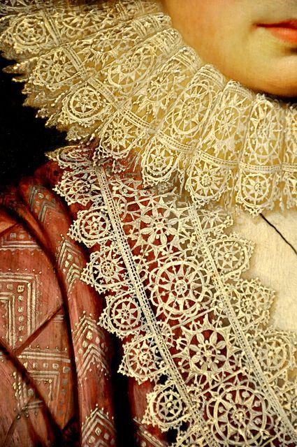 .:. Portrait of a Woman detail by Cornelius Janssen van Ceulen, 1619