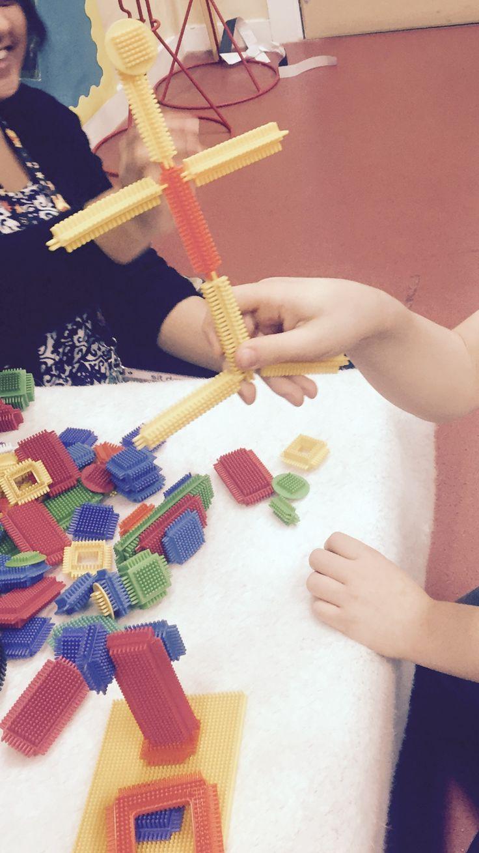 Stickle bricks for building stickman