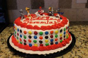 DIY Power Ranger Birthday Cake! #birthdaycake #M&M's #3rdBirthday #DIY