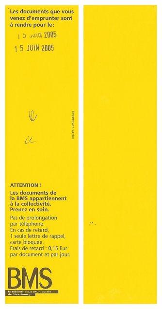 BMS [Lesezeichen] : la Bibliothèque Municipale de Strasbourg von   LibraryThing