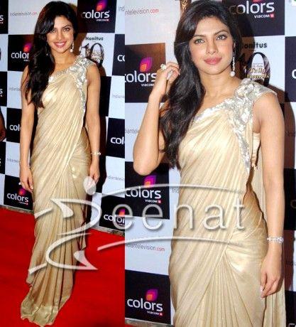 Priyanka Chopra In Designer Saree http://zeenatstyle.com/?cat=75