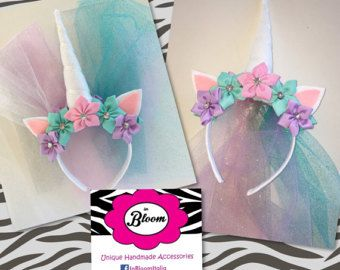 Diadema fiesta unicorn pack de custom 5 más 1 hacer