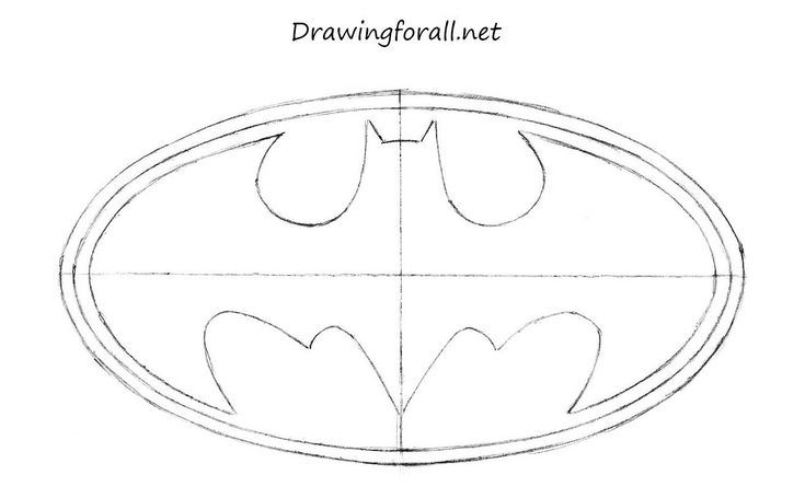 drawing batman sign