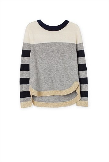 Stripe Sleeve Knit