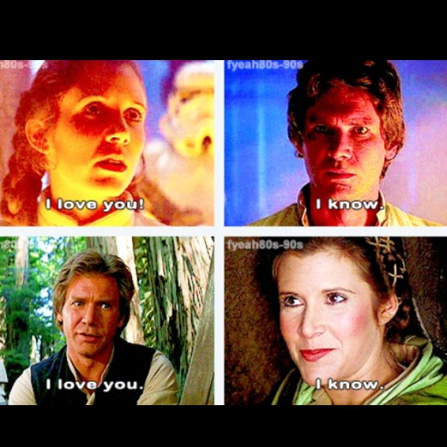 Han and Leia <3 wayyy better love story than Anakin and Padme. They're hilarious!!! I still like Anakin better than Han tho. :P