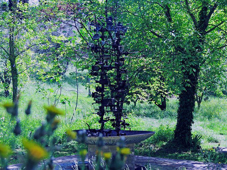 A lovely surprise down a path in the garden. #danielspoerri